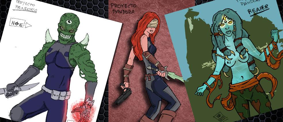 Diseños mios de personajes EVO Omega que debutarán en la nueva edición.