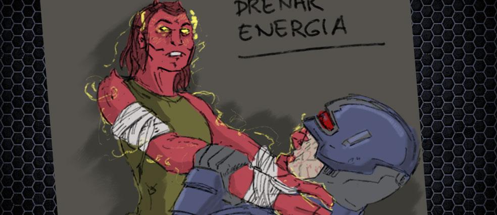 """Boceto para el el rasgo sobrenatural """"Drenar Energía"""""""